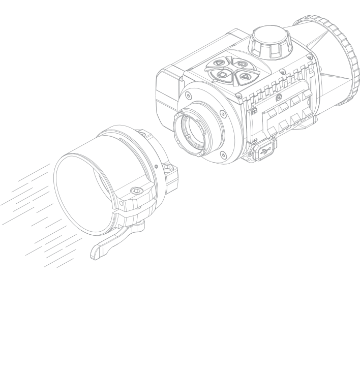 Pulsar Krypton XG50 Thermal Scope Attachment